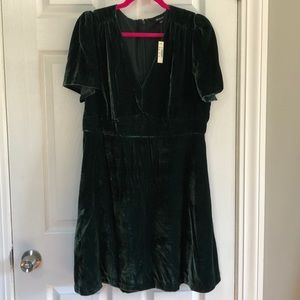 Brand new madewell short sleeved velvet dress